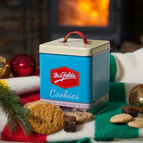 mrs fields retro gift tin