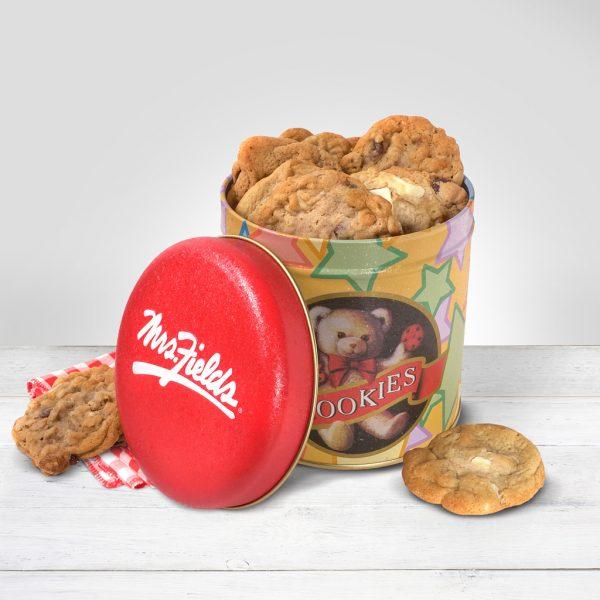 teddy bear cookie tin