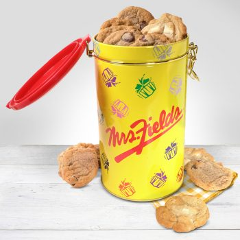 yellow cookie cannister